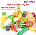 Juguete del bebé Niño fruta cocina sistema del juego juguete kindergarten 7 unids por juego
