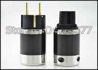 Unprint Furutech Дизайн FI 50M и FI 50 Медь золото углеродного Европейский AC Мощность Plug