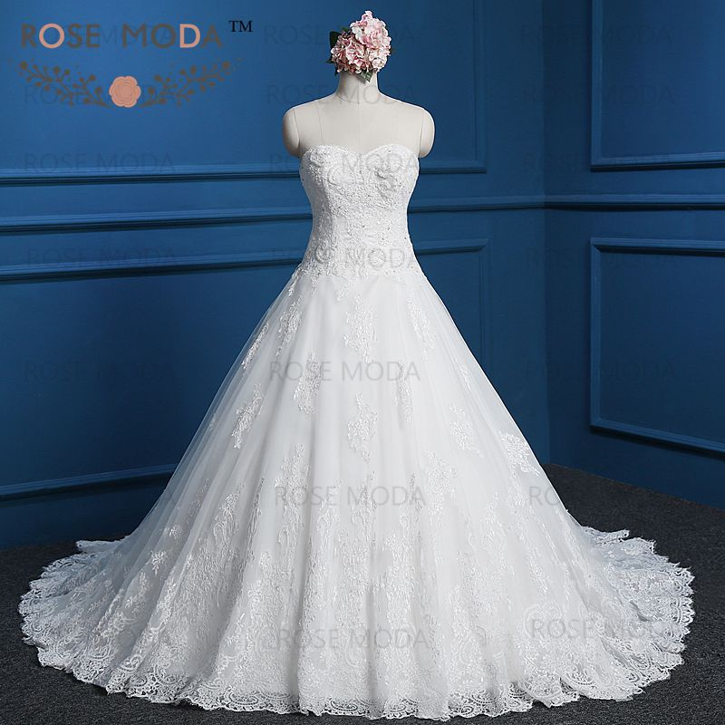 Buy Elegant Corded Lace A Line Wedding
