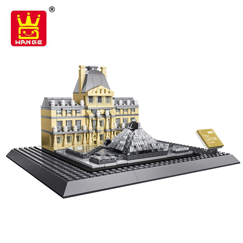 Louvre Of Paris World Great Architecture Model Building Blocks Toys Bricks City Classic Collection Toys Compatible lepin aiboully city 7014 7017 model the louvre in paris rome fontana di trevi building blocks sets bricks toys compatible with gift