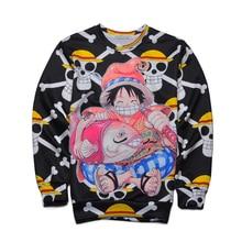 One Piece Print 3d Hoodie