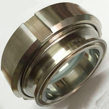 Tri Clamp Sight Glass Stainless Steel 304  Circular Viewing   Removable Sight Glass