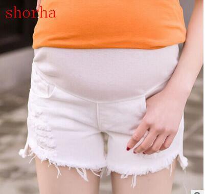 Maternità Gravidanza Jeans Di Estate Multi-style Jeans Pantaloni Per Le Cave Donne Incinte Bianco Sezione Sottile Jeans Gravidanza