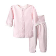 Girls Sets Clothes Autumn Winter Childrens Thermal Underwear clothing infant long full sleeve flannel suits