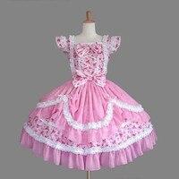 (LLT016) High Quality Short Sleeveless Sweet Lolita Short Dress Ball Gown Fancy Prom Dress Halloween Party Masquerade Costume