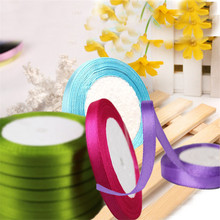 25 Yards (22 Meters) Silk Satin Ribbon 1/4 (6mm) Party Home Wedding Decoration Gift Wrapping Christmas New Year DIY Material