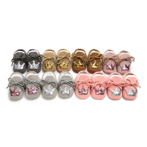 Hot Baby Princess Crown Casual Toddler Shoes Baby Shoes 2018 New Winter Newborn Soft Warm Shoes Infant First Walkers 0-18M F Karachi
