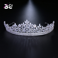 Be 8 Flower Shape AAA Cubic Zirconia Crowns and Tiaras Women Wedding Hair Accessories Jewelry tiara de noiva H128