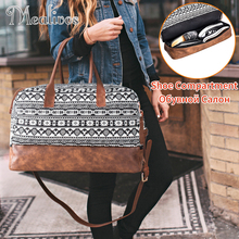 Mealivos Мода 2018 г. холст большой Weekender Сумка ночь дорожная вести вещевой мешок с обувью вещевой мешок дорожные сумки