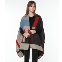 TOLINA Classic retro style Women Knitted Cashmere Poncho Capes Shawl Cardigans
