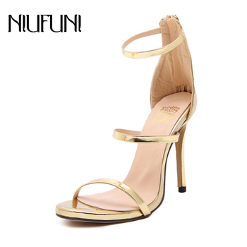 NIUNIFU 2020 Summer Super High Heel Sandals Ankle Strap Open Toe Thin Heel Pumps Sexy Women Party Wedding Shoes