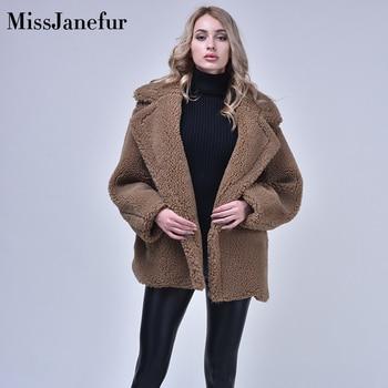 Teddy Coat Women 2019 Autumn Winter Thick Warm Jacket Soft Fleece Jacket Pocket Button Outerwear Overcoat Bear Teddy coat