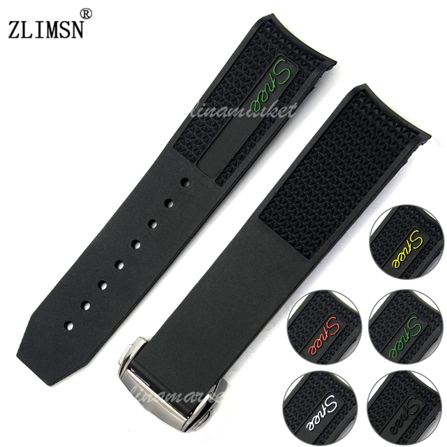 4022d50d62b New men black diver silicone rubber curved end watch band strap clasp jpg  640x640 Curved end