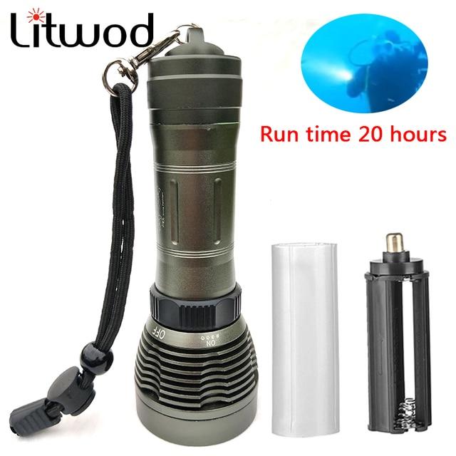 z25 led flashlight 5000LM XM L T6 LED Underwater Diving under water 80m Flashlight IP8 Waterproof Torch Swimming Submarine