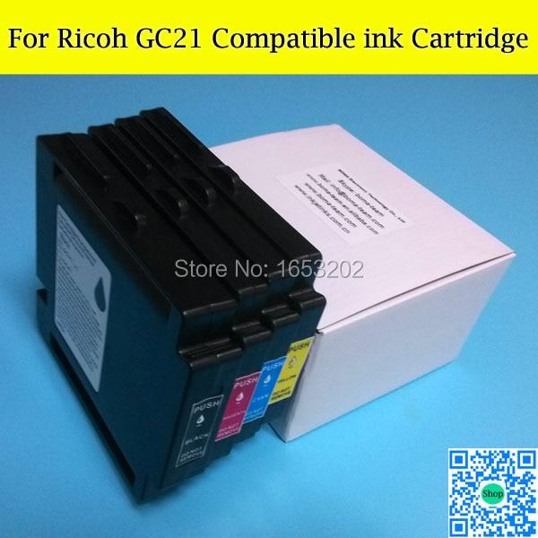 8 PCS GC 21 Compatible Ink Cartridge For Ricoh GC21 Use GX5050N/3050SFN/3050N/3000SFN/2050N GX300 GX500 GX700 Printer