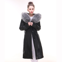 Fashion Lady suit Long style Overcoat Winter Suede Faux fur Artificial FOX Direct supply from factory Fur with skin New style