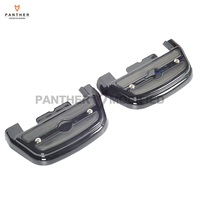 Black LED Motorcycle Rear Passenger Footboard Lights Case For Harley Touring Trike Softail 1984 2018
