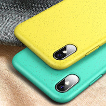 New silicone green phone case for iphone xs xsmax anti-drop iPhone 7 8Plus solid color Fitted Case