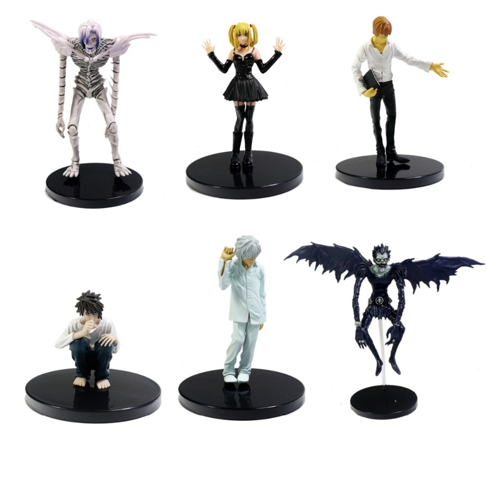 6pcs Lot Death Note Ryuk Ryuuku Rem Action Figure Loose Free Shipping 25 pcs lot death note notebooks cosplay ryuuku notebook and quill pen