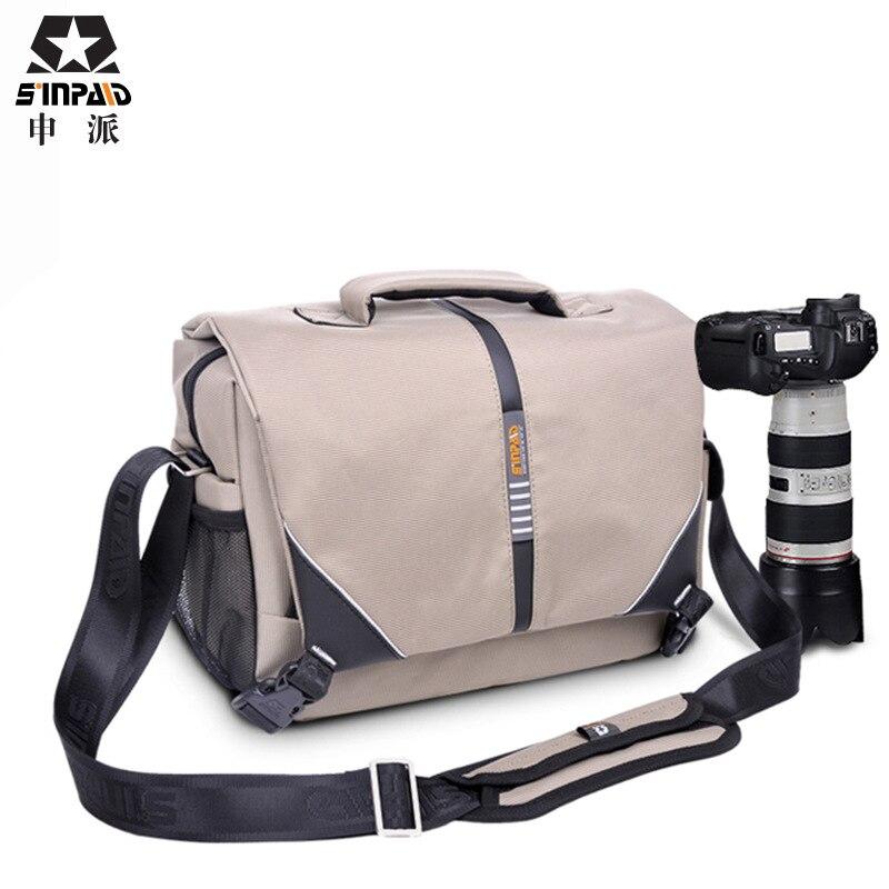 High Quality Waterproof black Nylon Professional DSLR Camera Shoulder Bag new hiking outdoor light weight camera bag CD50 micro camera compact telephoto camera bag black olive