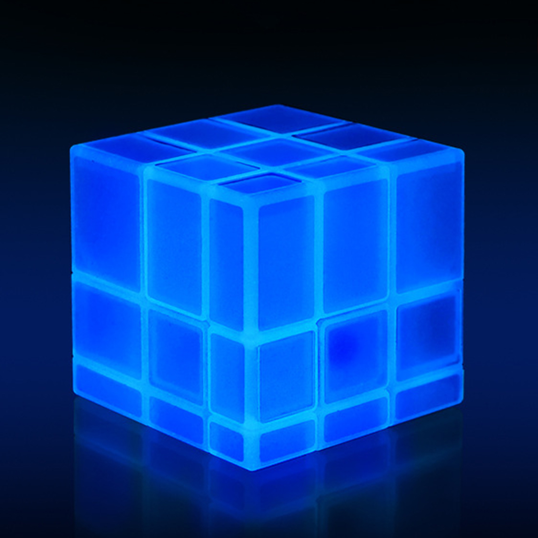 New QiYi 3X3X3 Mirror Blocks Luminous Magic Speed Cube Puzzle Cubo Magico Professional Learning&Educational Classic Toys Cube-in Magic Cubes from Toys & Hobbies