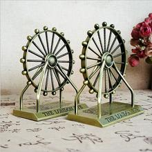 Nordic Style Metal Ferris Wheel Model Living Room Decoration Creative Iron Tower Statue Home Office Desktop Decor Gift Souvenir