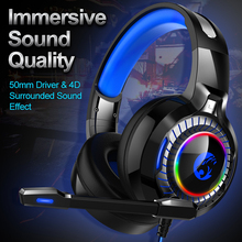 JOINRUN PS4 Gaming Headphones 4D Stereo RGB Marquee Earphones Headset with Microphone for New Xbox One/Laptop/PC Tablet Gamer