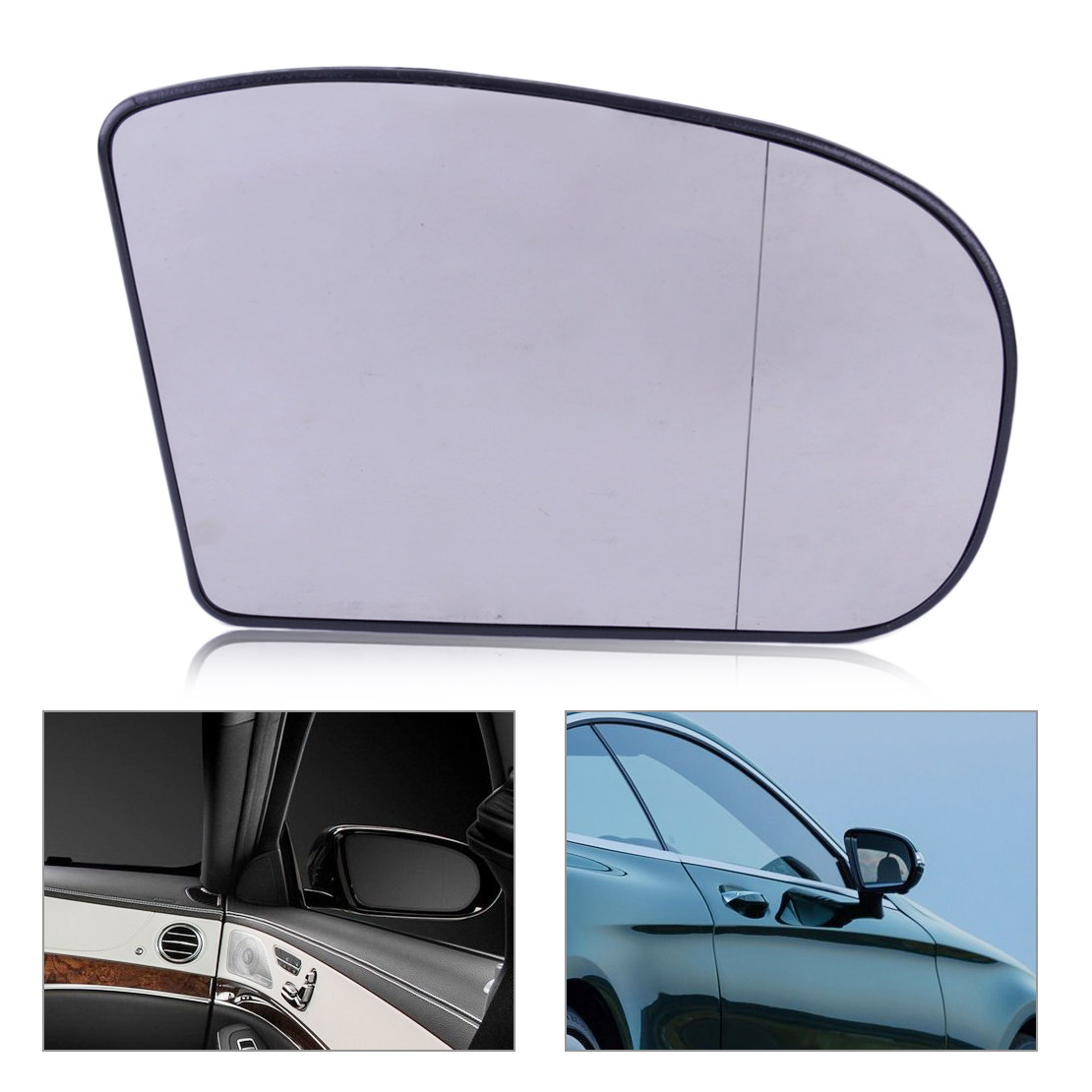 beler Right Heated Door Mirror Glass Aspherical Wide Angle Fit For Mercedes E class C Class W211 W203 2038100221 203 810 02 21