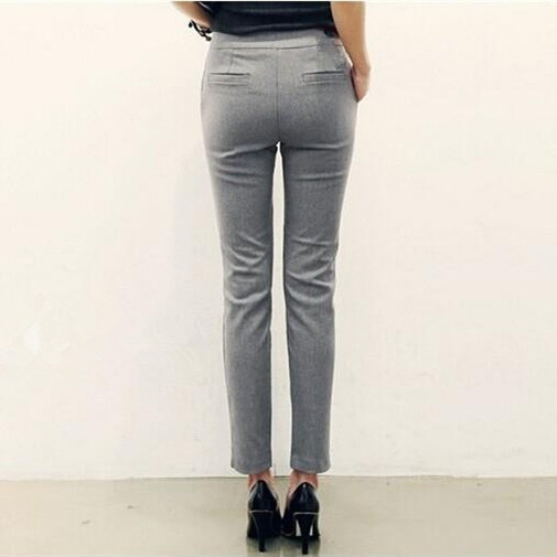 2017 New Arrival Women Office Work Pant Trouser Black Grey Pantalon Femme Las Skinny Slimming Pants Size S L In Capris From Clothing