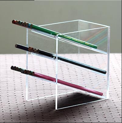 Acrylic Office Supplies Storage Box Penholder Oblique Put Pen Holder Multi Functional Desktop