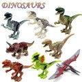 8 pçs/set 2016 Chegada Nova figuras de dinossauros Do Jurássico Mundo Variação Tiranossauro Montar Blocos Clássico Toy O Melhor presente para o menino