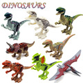 8 unids/set 2016 Recién Llegado de Variación Tyrannosaurus Jurásico dinosaurios figuras Mundiales Ensamblar Bloques de Juguete Clásico Mejor regalo para el muchacho