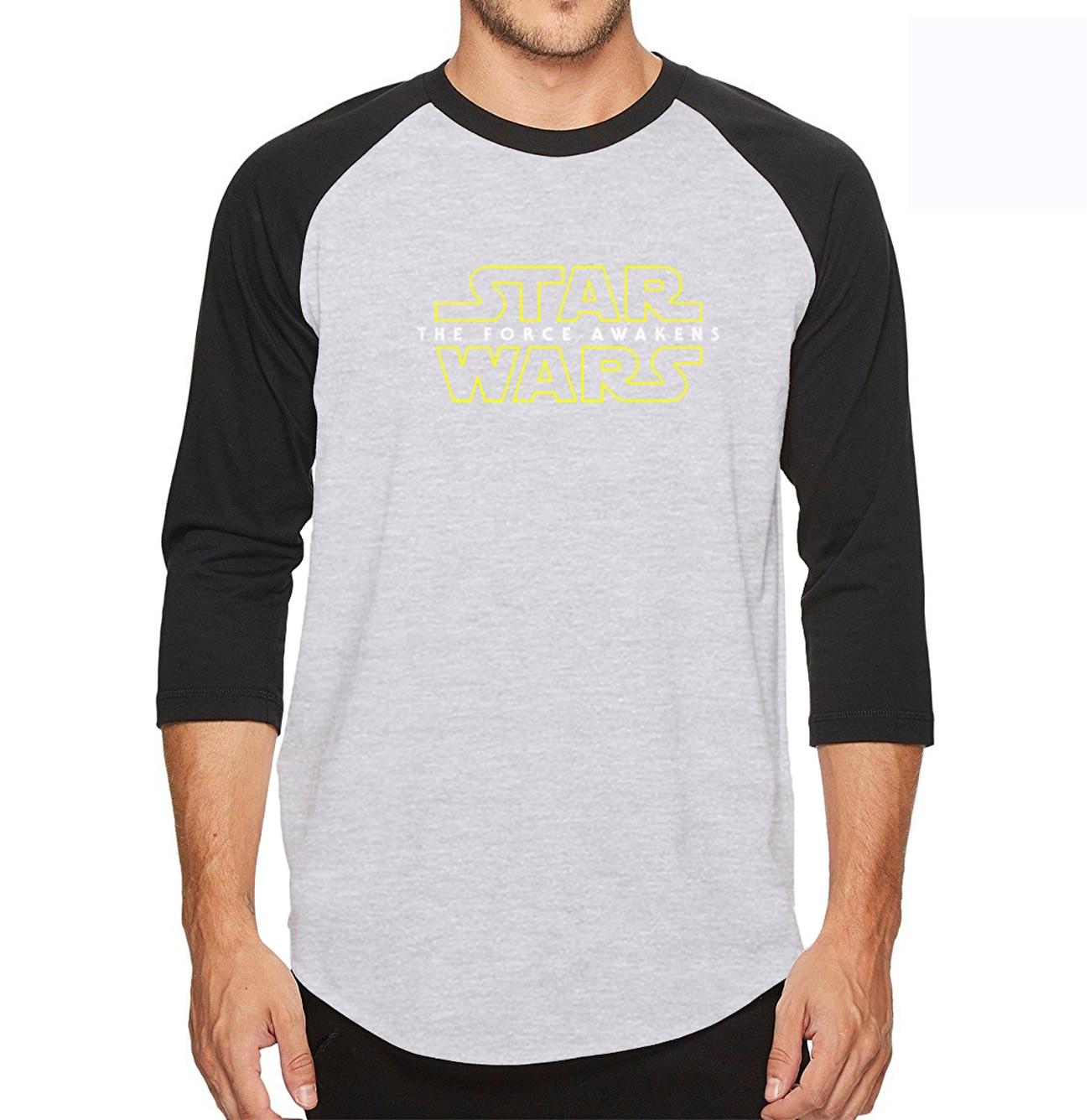 Summer New Starwars Black Knight Three Quarter Sleeve T Shirt Men 100% Cotton High Quality personality T-Shirt
