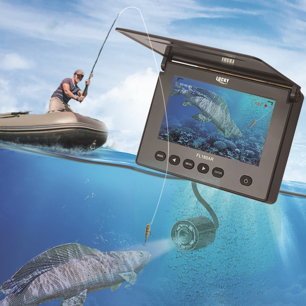 LUCKY FL180AR Portable Fish Finder Underwater Fishing Camera 4.3 Inch LCD Monitor Sport Video Camera Underwater With 20m CableLUCKY FL180AR Portable Fish Finder Underwater Fishing Camera 4.3 Inch LCD Monitor Sport Video Camera Underwater With 20m Cable