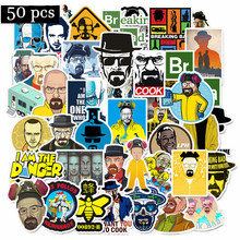 50 adet/paket Breaking Bad Graffiti çıkartmalar sarı Moto araba tampon ve bavul serin dizüstü bilgisayar kaykay bisiklet Sticker bomba(China)