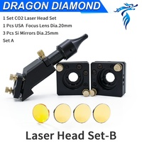 CO2 Laser Head B Set Mirror Mounts for 20MM Lens 25MM Mirror for Laser Engraving and Cutting Machine