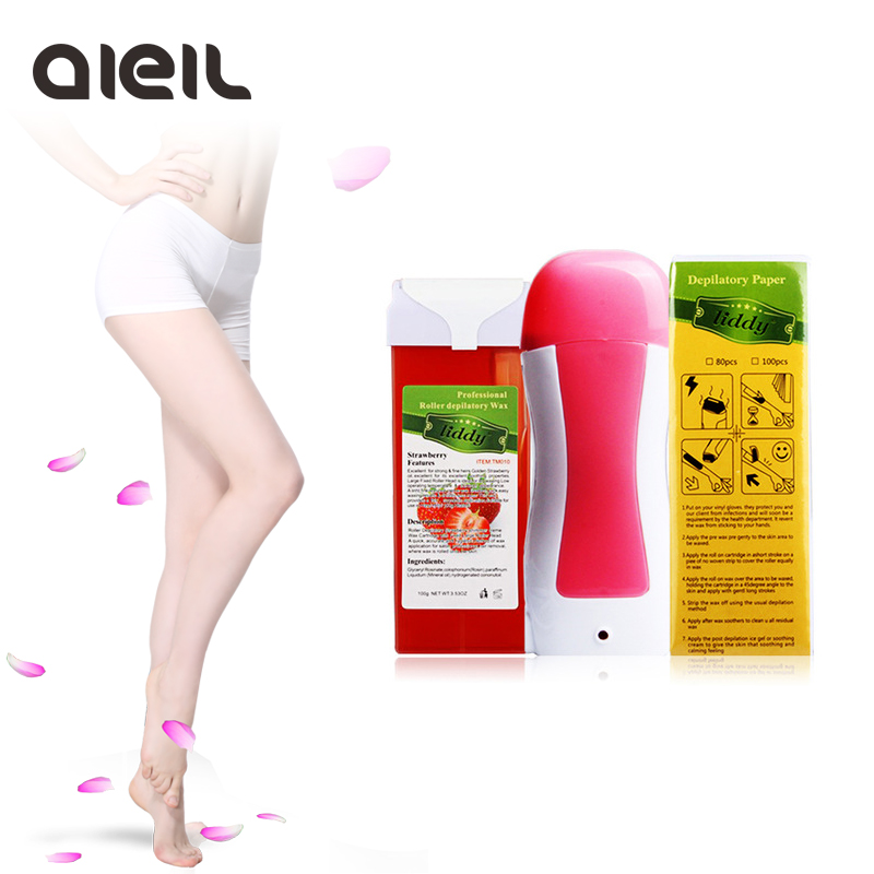 Hair Removal Machine EU Plug Wax Heater Cartridge Epilator Roll On Depilatory