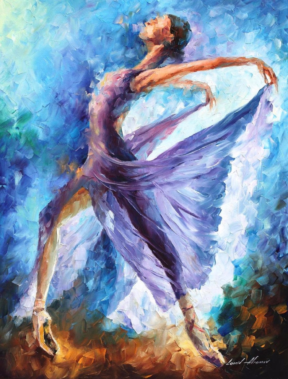 Original watercolor art for sale - Landscape Painting For Sale Colorful Oil Paintings Canvas Dance Of Angels Modern Wall Art Home Decor