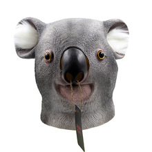 Koala Mascaras Animales Cosplay Halloween Funny Realistic Latex Masks Animal Full Face Maske Carnival Party Masker