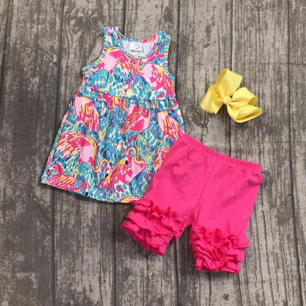 new arrival baby girls summer clothing children flamingo outfits girls flamingo top with hot pink ruffle shorts clothes with bow zaful new cami wrap top with striped shorts tied slip top women crop summer beach stripe top high waisted shorts