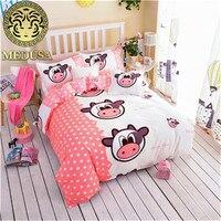 Medusa cerdo encantador niños juego de cama rey reina completo doble solo tamaño duvet/edredón cover set