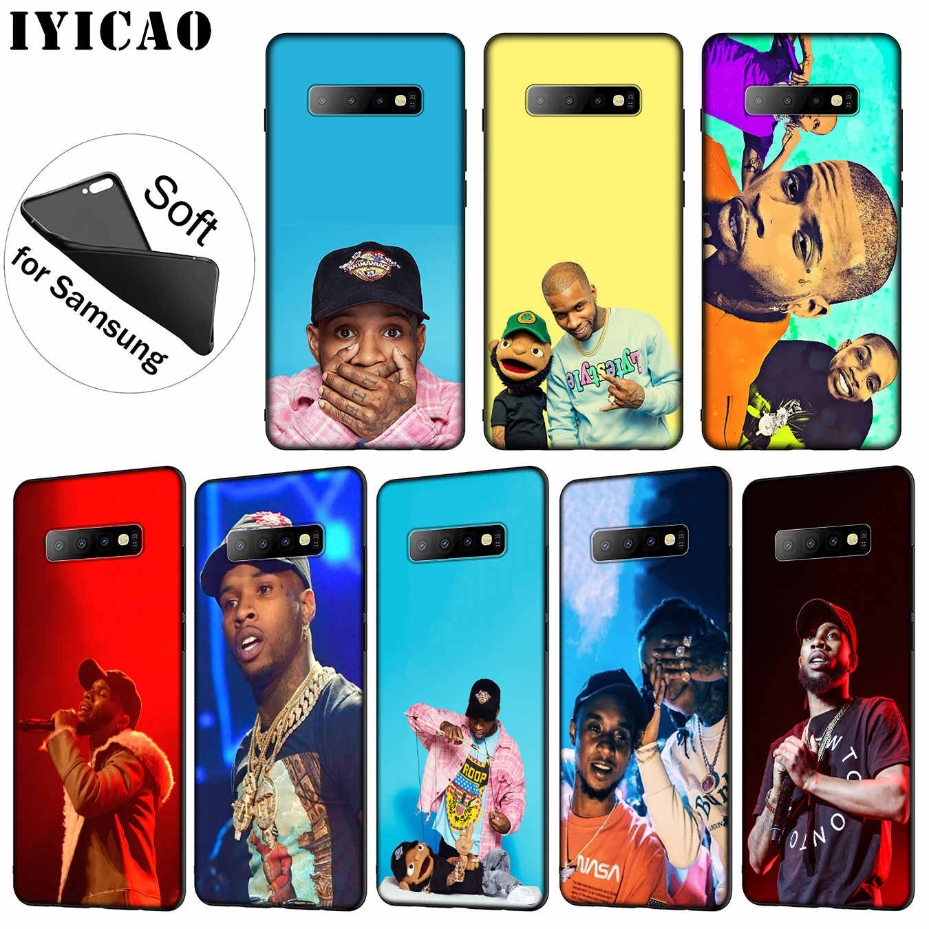 Iyicao Thom Yorke Lembut Silicone Ponsel Case untuk Samsung Galaxy S10 S9 S8 Plus S6 S7 Edge S10e E TPU hitam