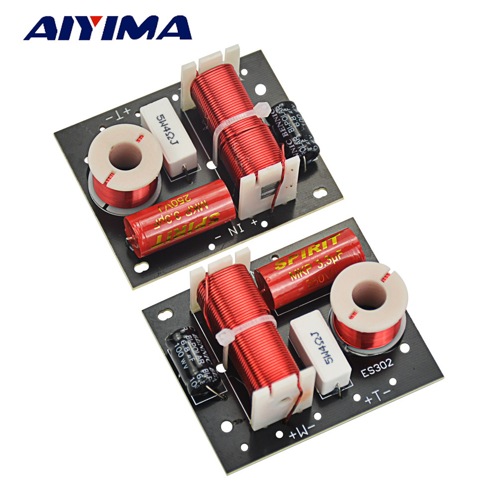 AIYIMA 2Pcs Speaker Frequency Divider BA50 Hifi 2 Way Crossover Speaker Frequency Divider Crossover Filters DIY For Home Theater
