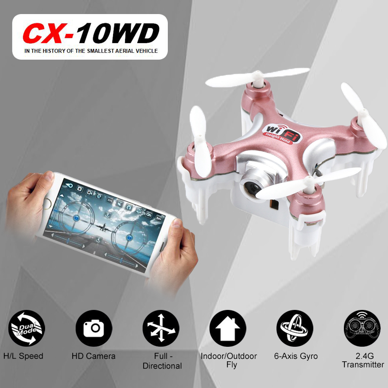 RC Quadcopter Cheerson CX 10WD CX10WD 10WDTX Wifi FPV High Hold Mode CX10 CX10W Update Version Mini Drone Helicopter Toy Gift In Helicopters From Toys