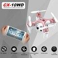RC Quadcopter Cheerson CX10 CX-10WD CX10WD CX-10WDTX Wifi FPV Alta Modo de Espera CX10W Update Versão Mini Drone Helicóptero de Brinquedo de Presente