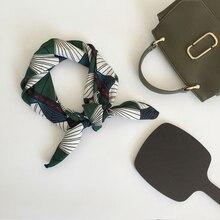 Women fashion silk scarf chiffon Square Cravate Scarves Soft Small Head Neck Hair Tie Band Multi-Color Neckerchief 70x70cm
