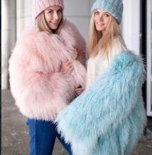 Pretty Fashion Real ambskins Fur coats luxury 70cm Long Genuine Lamb Fur Jacket Real Mongolian fur Coat bielizna damska