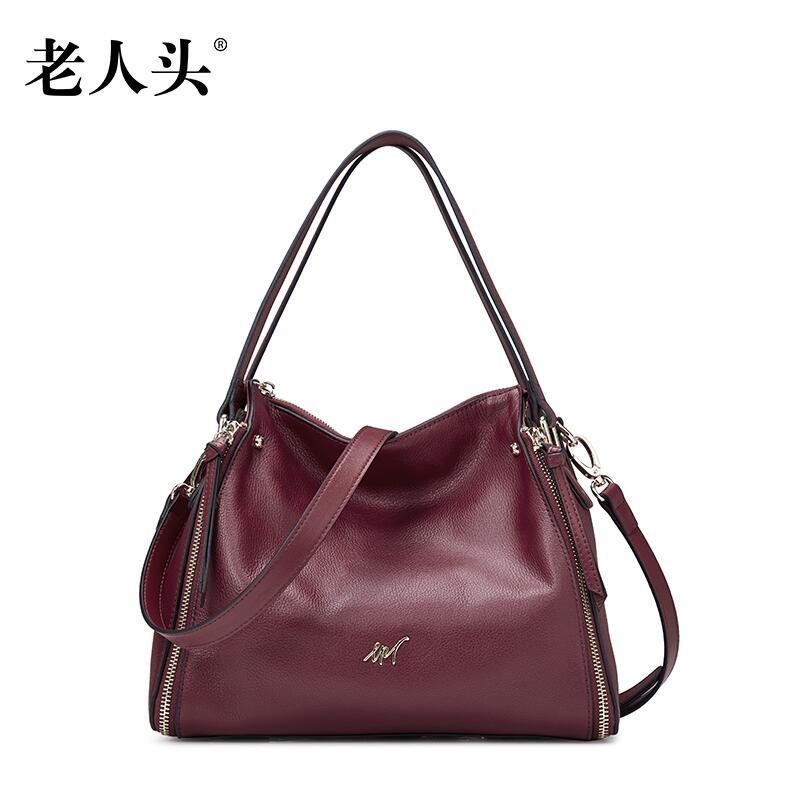 LAORENTOU2016 new high quality fashion luxury brand hand held diagonal package leather bag counter genuine well