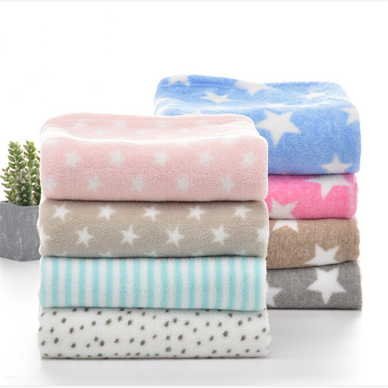 100*75cm Baby Blankets Newborn Cartoon Soft Comfortable Blanket Coral Fleece Manta Bebe Swaddle Wrap Bedding Set