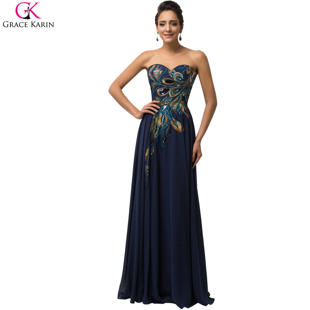 2017 navy blue cheap long peacock bridesmaid dresses grace karin 2017 navy blue cheap long peacock bridesmaid dresses grace karin dresses plus size bridesmaid dress wedding dinner formal dress in bridesmaid dresses from ombrellifo Choice Image